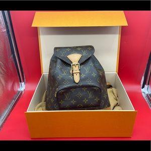 Authentic Louis Vuitton Monogram Montsouris backpack